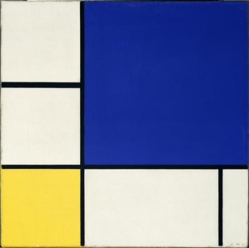 Piet Mondrian, Composizione con giallo e blu