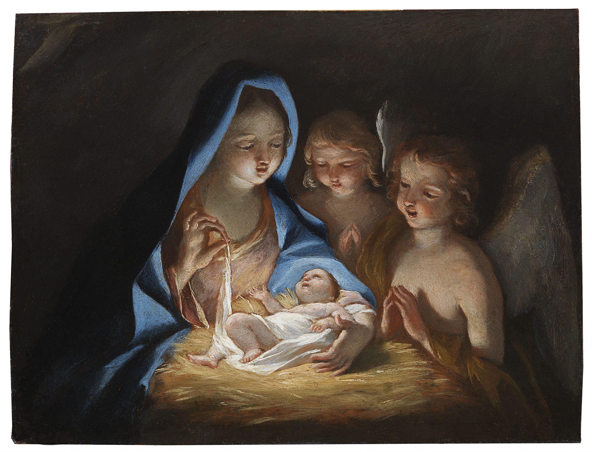 Giovanni Lanfranco, Madonna con Bambino e due angeli