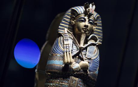 'Tutankhamun: Treasures of the Golden Pharaoh' Grande Halle of La Villette, a Parigi, EPA/IAN LANGSDON