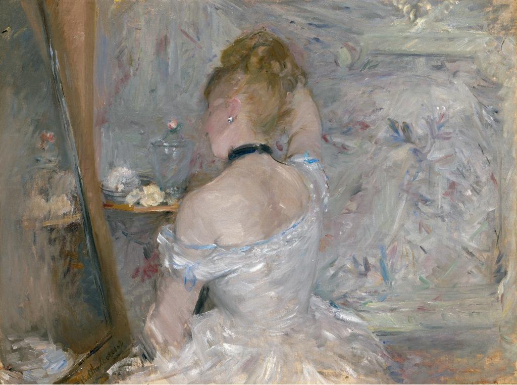 Berthe Morisot, Femme à sa toilette, 1875-1880. The Art Institute of Chicago