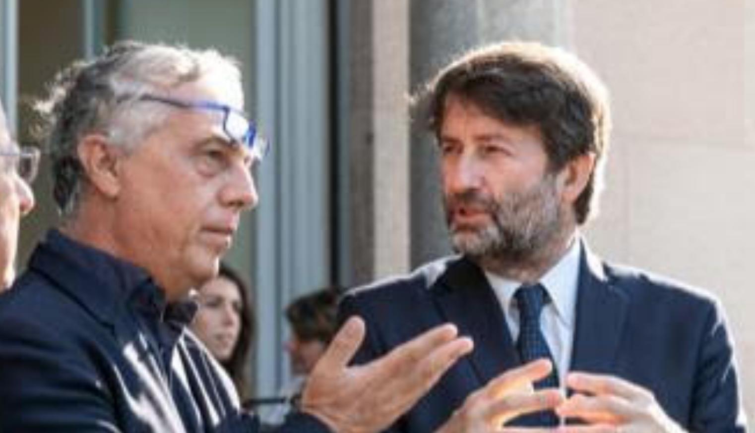 Dario Franceschini a Milano con Stefano Boeri