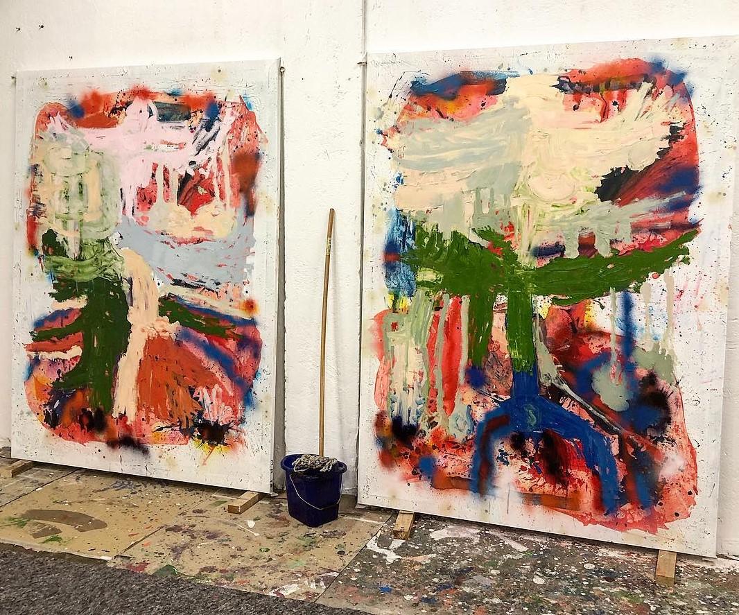 Nello studio di Marco Pariani a Brooklyn. Una pittura in costante equilibrio tra componente seriale e vitalità pittorica