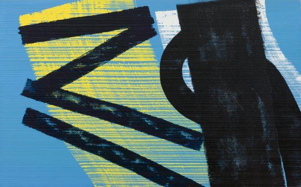 Hans Hartung and art informel, Mazzoleni Londra 2019, T1975-H37, 1975