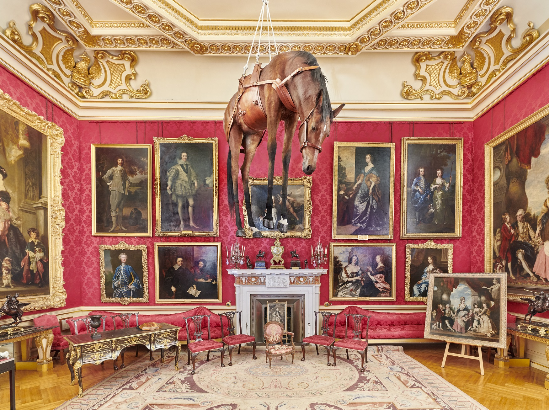 Installation view, Novecento, Victory is Not an Option, Maurizio Cattelan at Blenheim Palace, 2019, photo by Tom Lindboe, courtesy of Blenheim Art Foundation