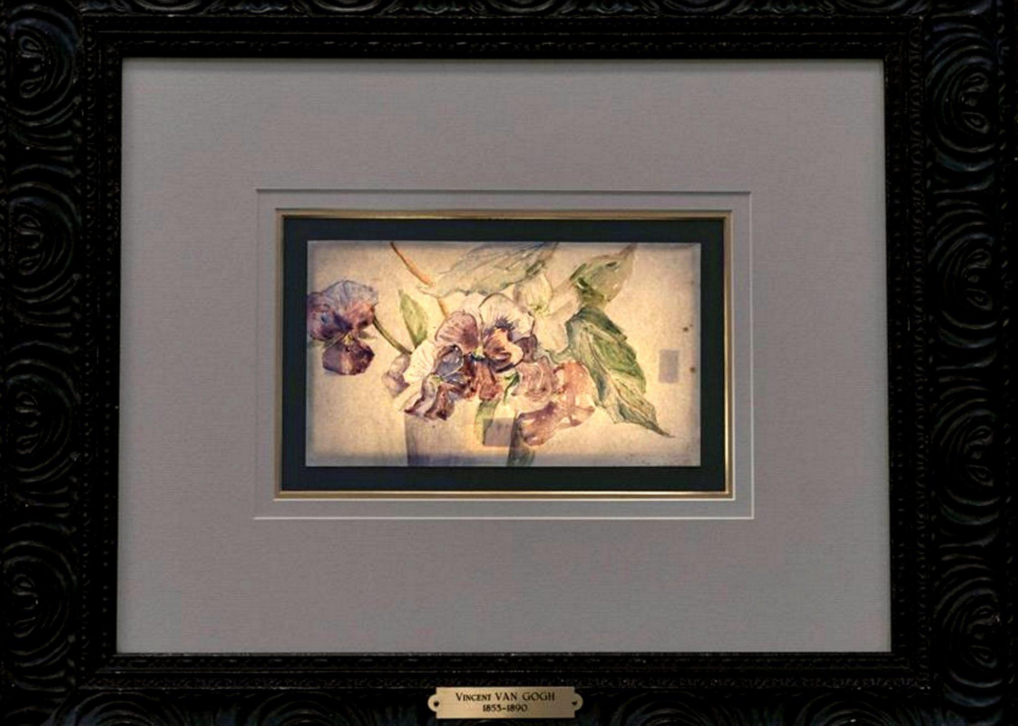 L'acquerello floreale di van Gogh venduto a Gand