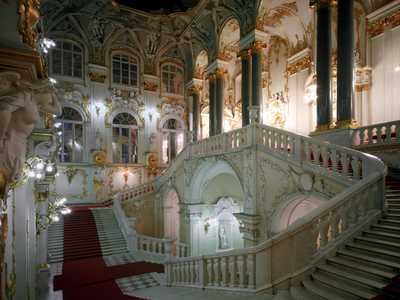Scalone d' onore della Galleria Superiore Palazzo d'Inverno