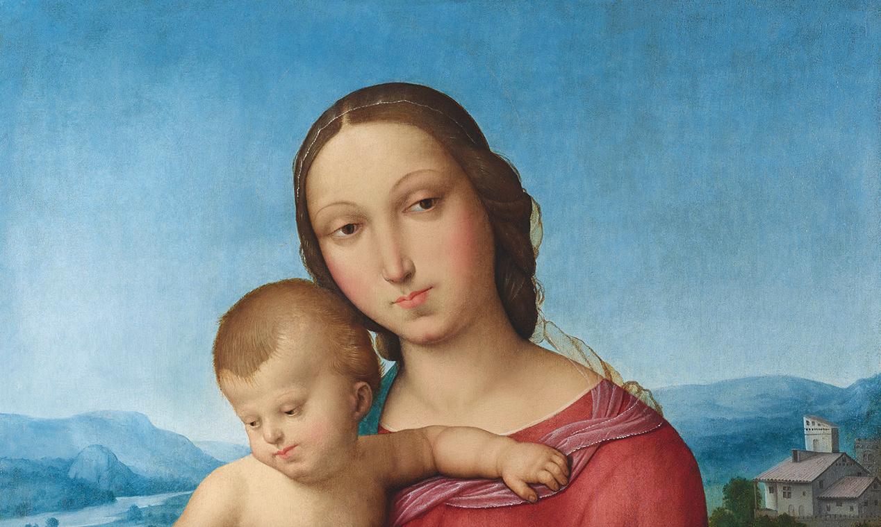 Una Madonna col Bambino del primissimo stile di Raffaello in asta da Dorotheum