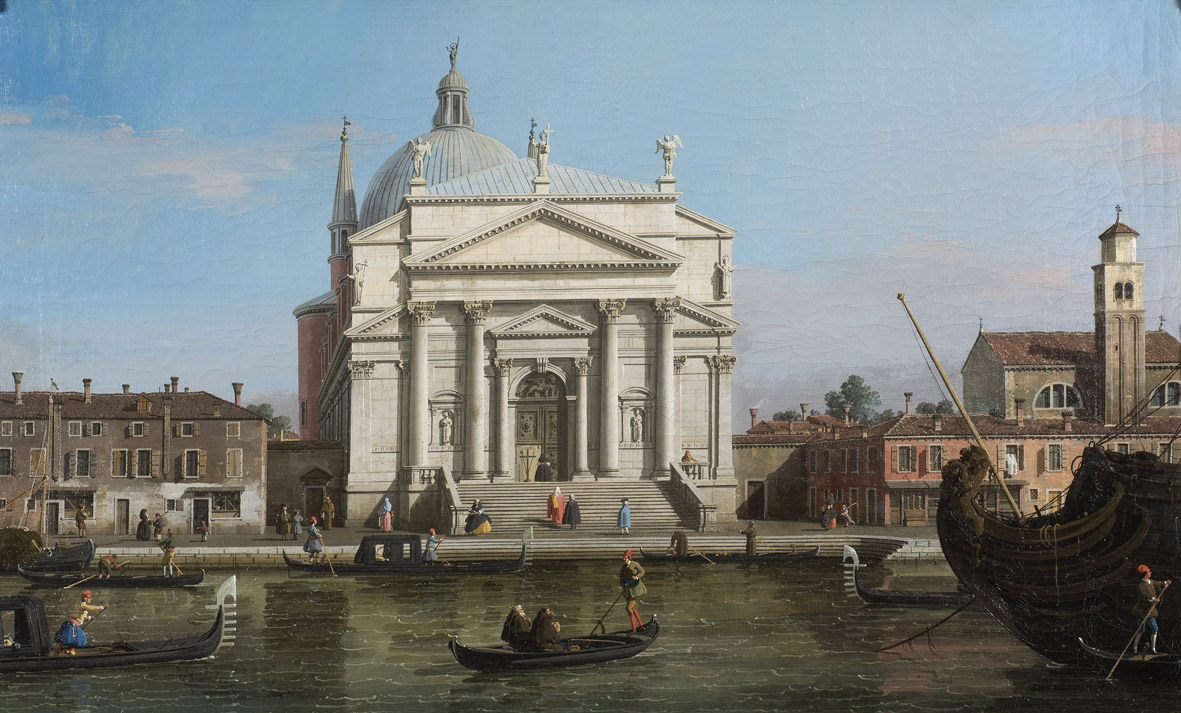 Galleria Dickinson. Giovanni Antonio Canal, Il CANALETTO: (1697 – 1768) The Redentore, Venice, c. 1746 oil on canvas, unlined 47.4 x 77.3 cm. (18 x 30 ½ in.)