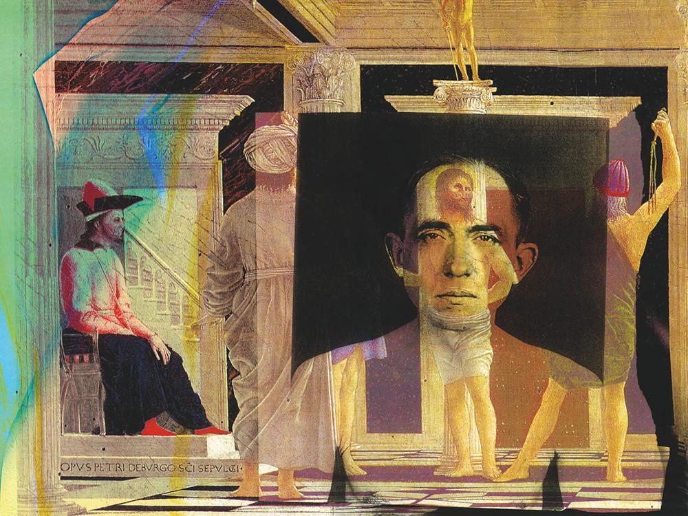 da Piero della Francesca, La flagellazione di Cristo; Augusti Sander, Ospedale dei ciechi, Gianluigi Colin, 2004