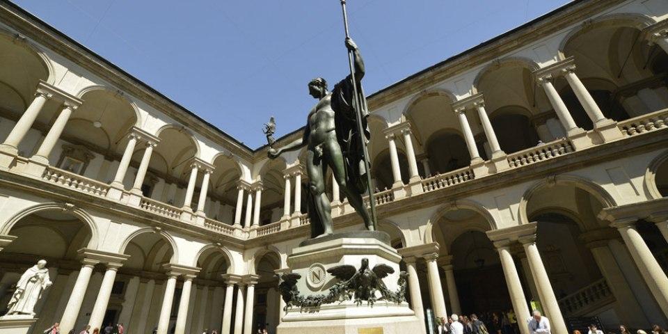 Cortile di Palazzo Brera