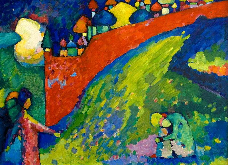 Kandinskij, Gončarova, Chagall. Sacro e bellezza nell'arte russa Gallerie d'Italia 2019 Vicenza Vasilij Kandinskij, Destino (Muro Rosso), 1909