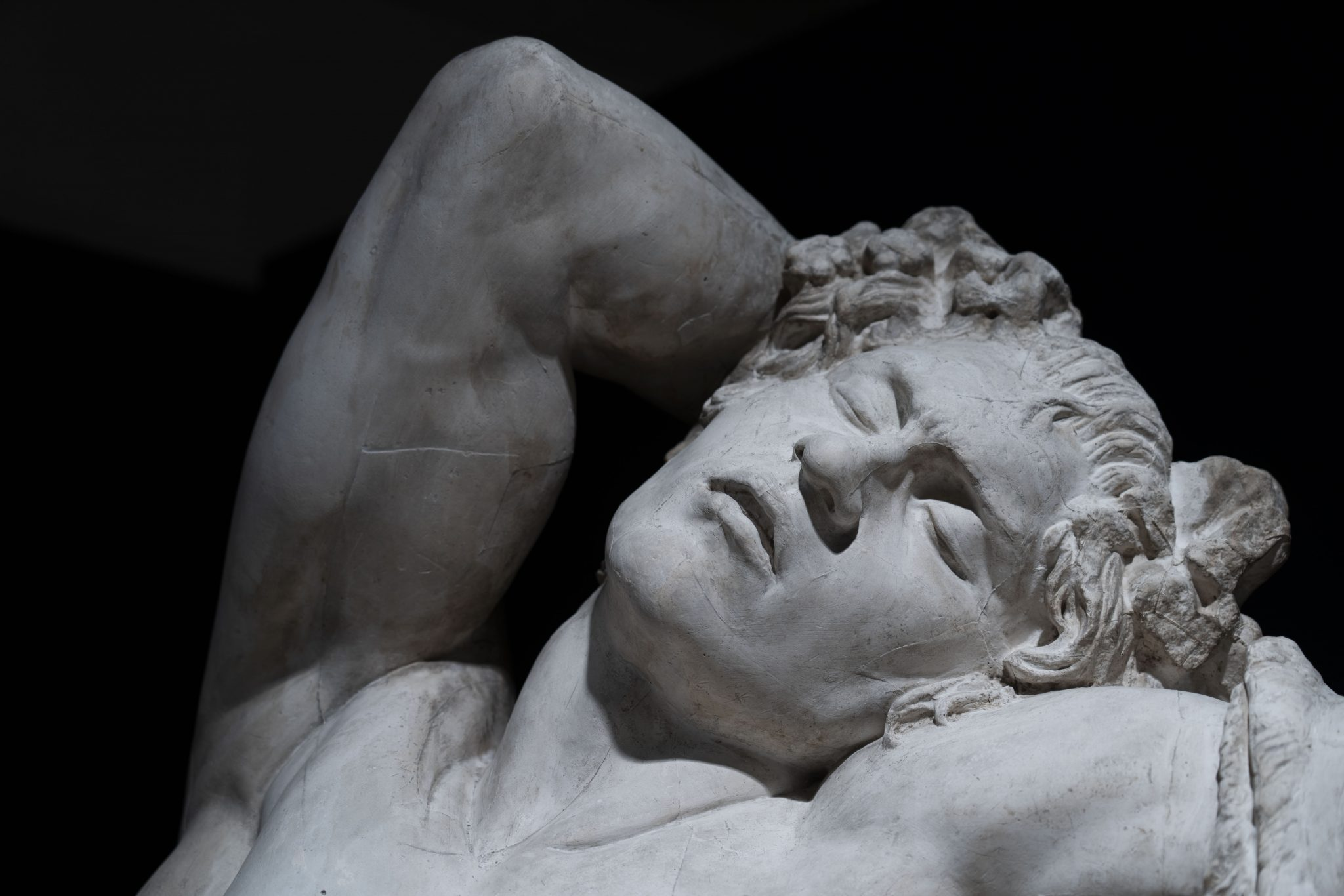 volto di una statua
