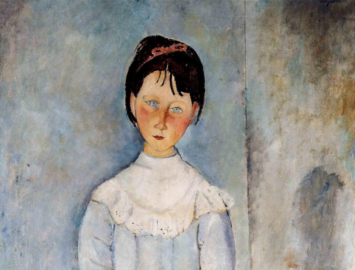 Amedeo Modigliani (Livorno,1884 - Paris, 1920) Fillette en bleu, 1918 olio su tela, 116x73cm collezione Jonas Netter