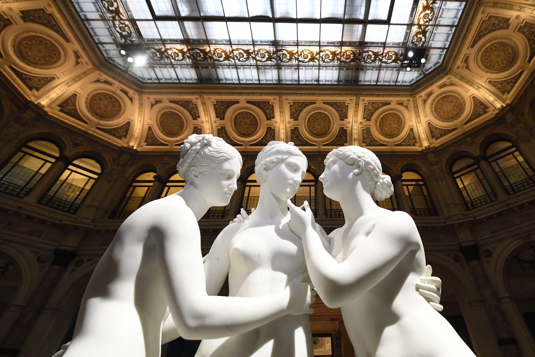 Canova | Thorvaldsen. La nascita della scultura moderna, Gallerie d'Italia, Milano. Bertel Thorvaldsen, Le tre Grazie