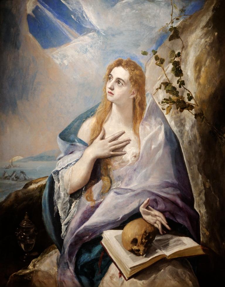 EL GRECO (Domínikos Theotokópoulos) Sainte Marie-Madeleine pénitente, 1576-77 Budapest, Szépművészeti Múzeum Photo © Selva Bridgeman Images