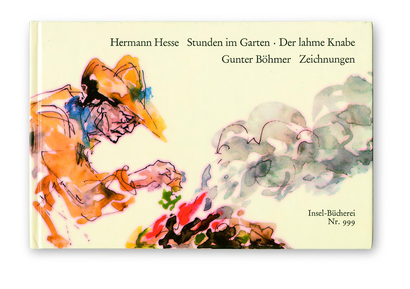Gunter Böhmer, copertina di Hermann Hesse, Stunden im Garten (Ore in giardino), Erschienen im Insel Verlag 1952, Suhrkamp Verlag 1976