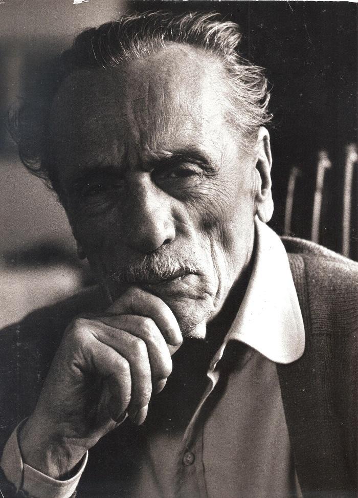 """""""Eduardo De Filippo"""", Ritratto bianco e nero."""
