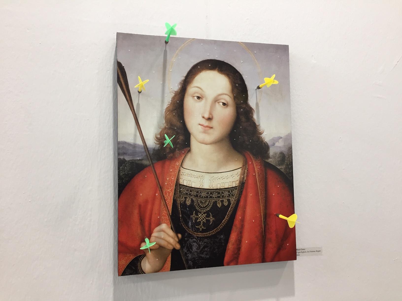 Il San Sebastiano-bersaglio di Mario Cresci alla galleria Materia, ArtVerona 2019