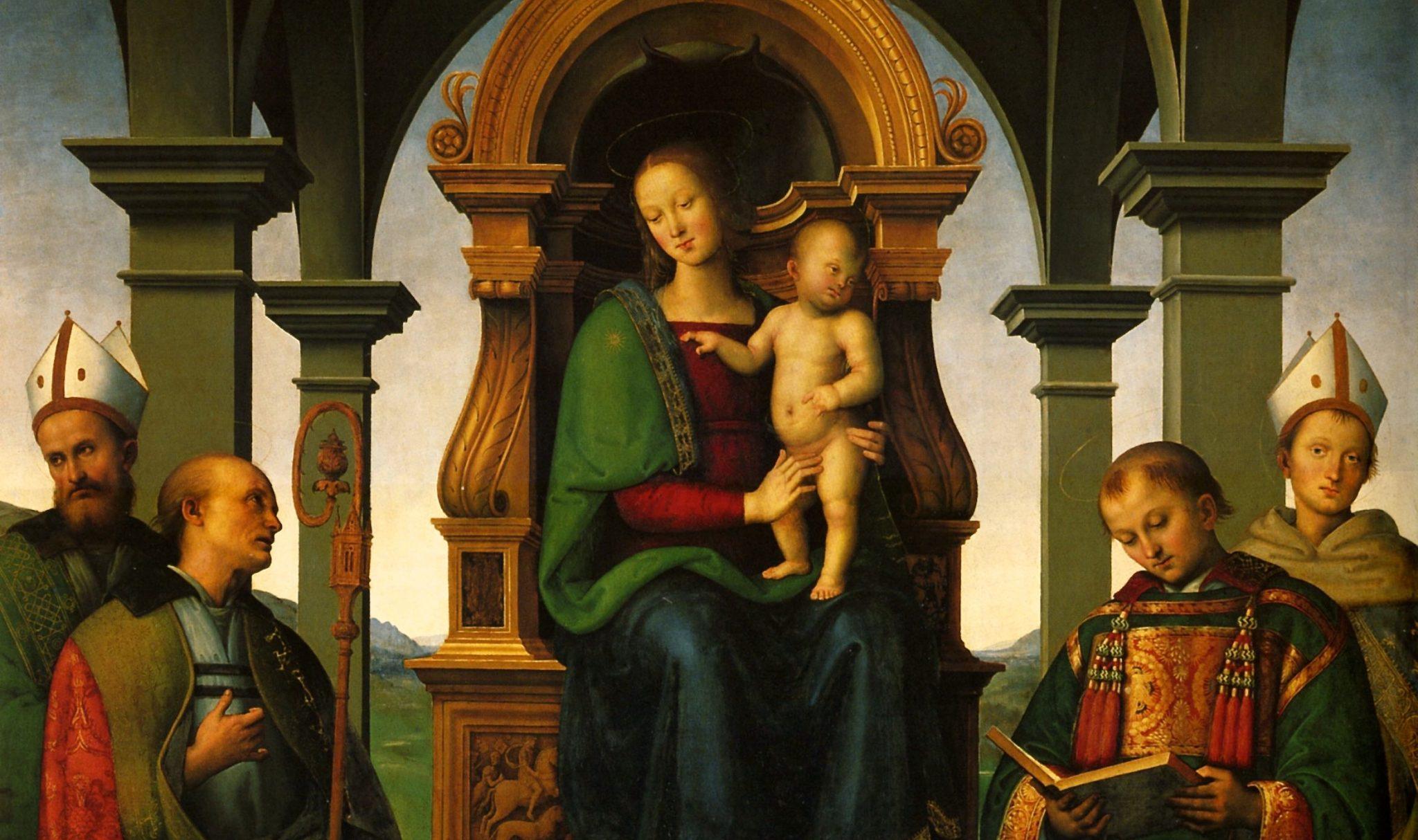 La Pala dei Decemviri di Pietro Perugino (particolare)