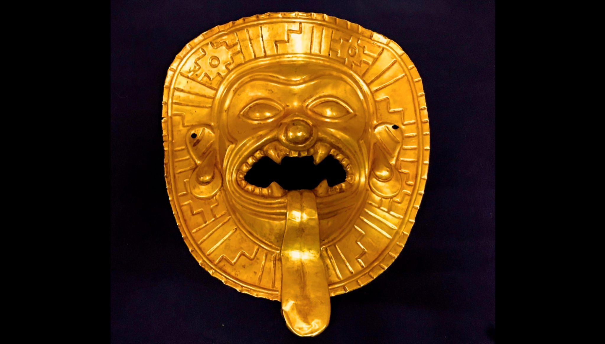 La maschera d'oro di Tumaco, trafugata in Colombia