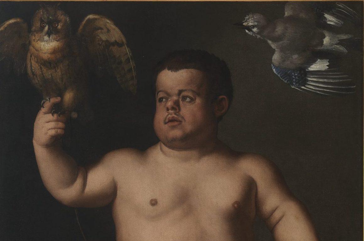 Agnolo di Cosimo detto Bronzino (Italia, Firenze 1503 – 1572);Ritratto del Nano Morgante (fronte), olio su tela 149 x 98 cm (Altezza x Larghezza), 1553 circa