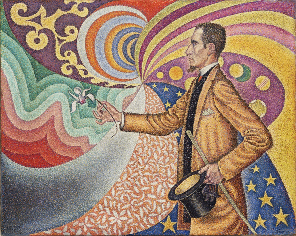 Signac, Paul (1863-1935): Opus 217. Against the Enamel of a Background Rhytmic with Beats and Angles, Tones and Tints, Portrait of M. Felix Feneon in 1890 (1890). New York, Museum of Modern Art (MoMA) Oil on canvas, 29 x 36 1/2 (73.5 x 92.5 cm). Fractional gift of Mr. and Mrs. David Rockefeller. Acc. n.: 85.1991. Authorization required prior to licensing; please address the Rockefeller Collection, attn. Ms. Bertha Saunders, 146 East 65 Street, New York, NY, 10021 - Phone: +1-212-249-8256/Fax: +1-212-717-5837; e-mail: bsaunders@rockco.com.*** Permission for usage must be provided in writing from Scala. May have restrictions - please contact Scala for details. ***