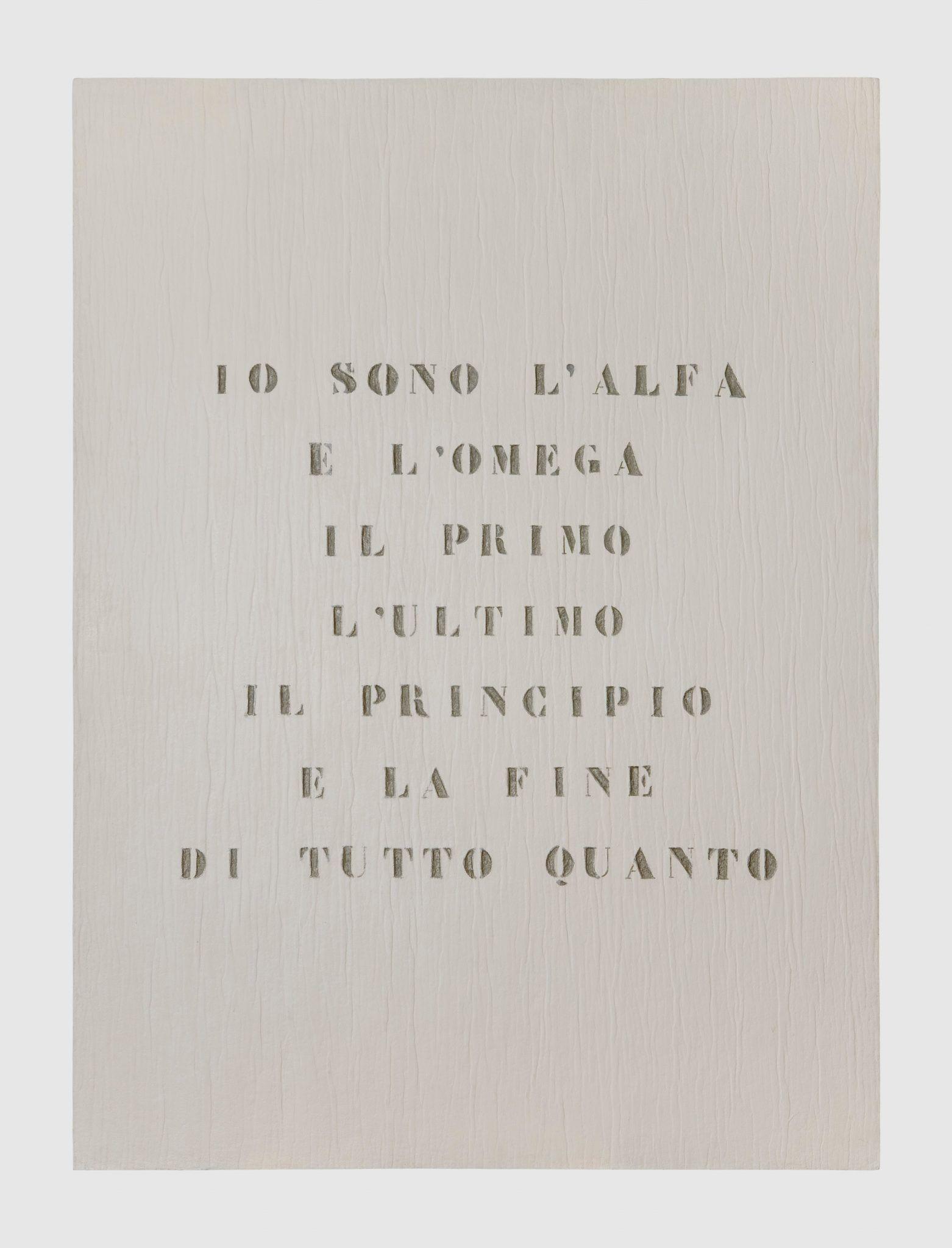 Ritratto di Dio, Vincenzo Agnetti, 1970