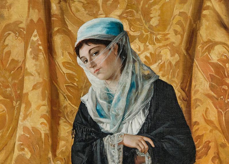 La 'Dama turca' da 1,7 milioni. Risultato eccezionale per Osman Hamdi Bey da Dorotheum