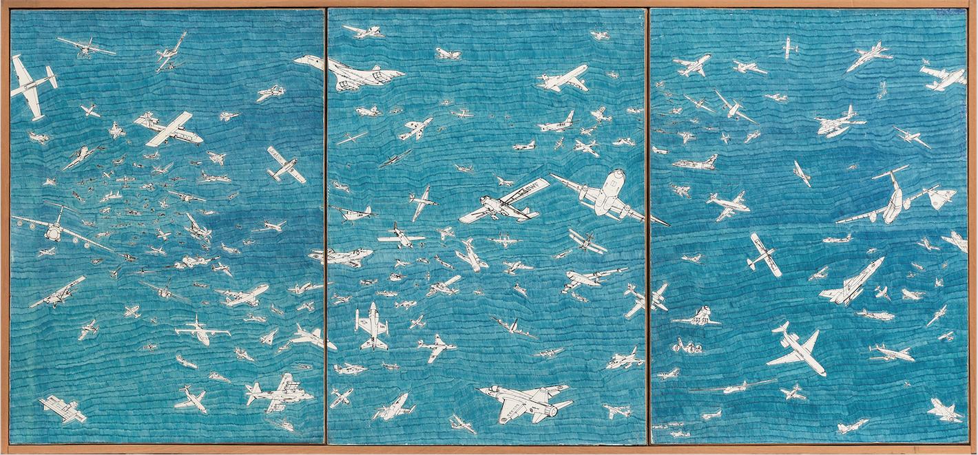 Gli aerei di Boetti volano su Torino con le 'Arti del Novecento' di Bolaffi