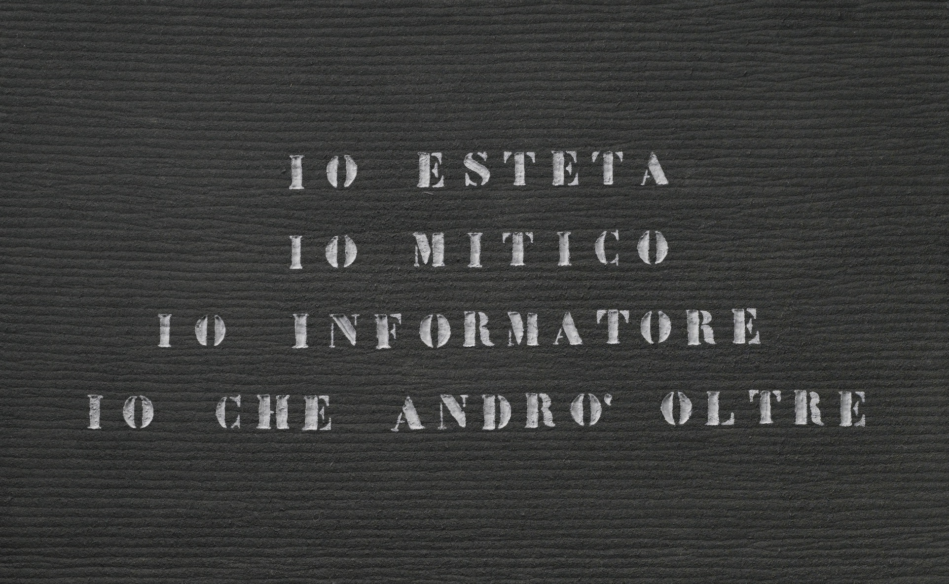 Ritratto d'artista, Vincenzo Agnetti, 1971