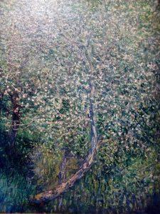 albero in fiore.Particolare di un quadro
