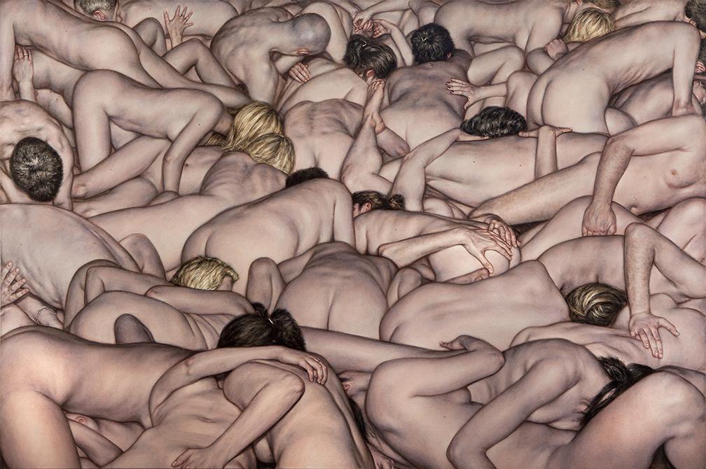 Poghi e orge in chiaroscuro. L'epica barocca di Dan Witz alla Wunderkammern di Milano