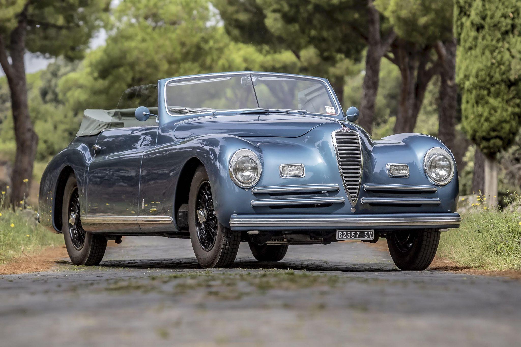 Intramontabile Alfa Romeo. 639 mila euro in asta la cabriolet Pinin Farina delle Mille Miglia '49