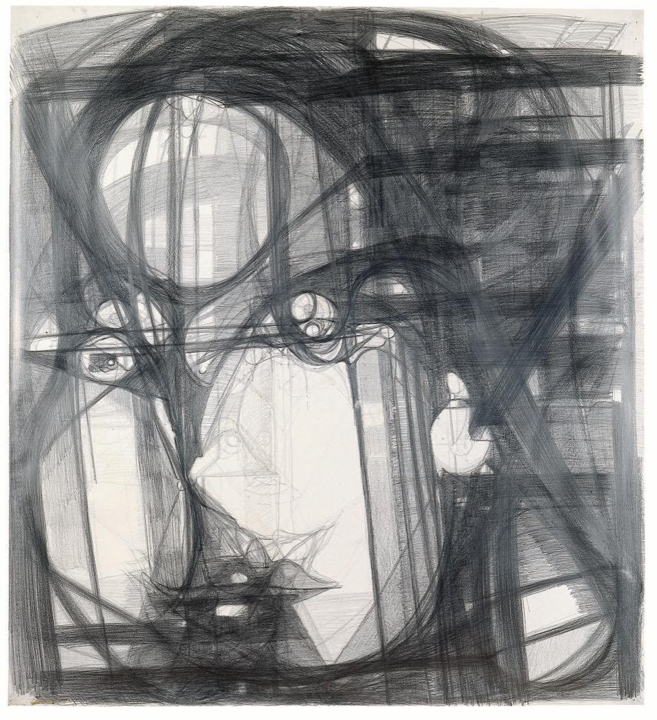 Marisa Merz Senza titolo 1993 grafite su carta Fabriano 164 x 150 cm © SIK-ISEA, Zürich (Jean-Pierre Kuhn) Kunst Museum Winterthur, acquistato con il fondo della lotteria del Cantone di Zurigo, 1999