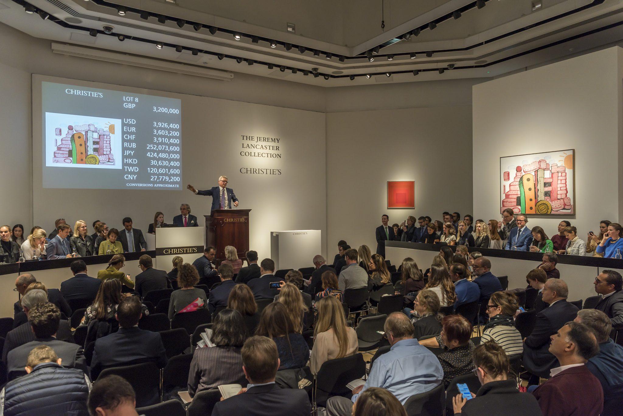 Oltre 23 milioni £ per la collezione Lancaster. 3,8 M £ per Philip Guston