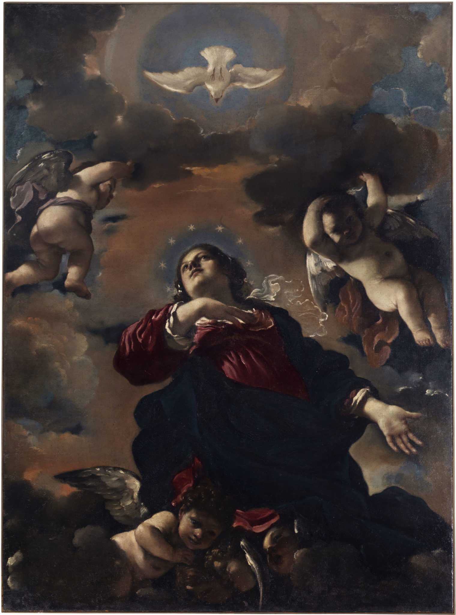 Guercino, Assunta, 1622, olio su tela, Cento, Chiesa del Rosario