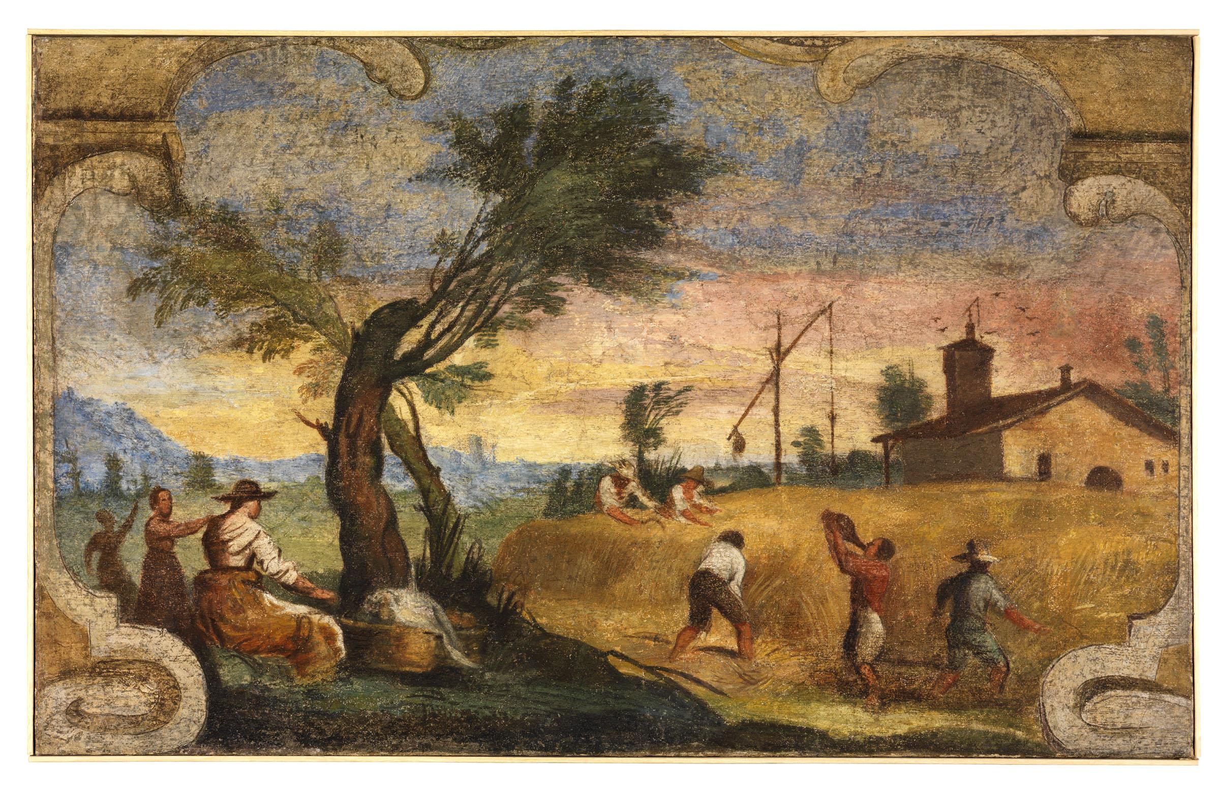 Guercino Pinacoteca Cento 2019 Guercino, Mietitura, 1615, affresco