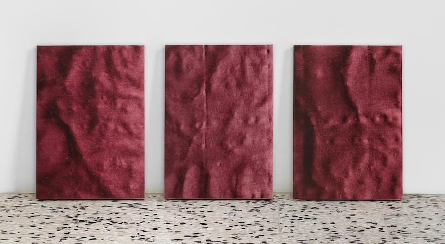 Frottage_Madonna delle rocce, Linda Carrara, 2019, trittico