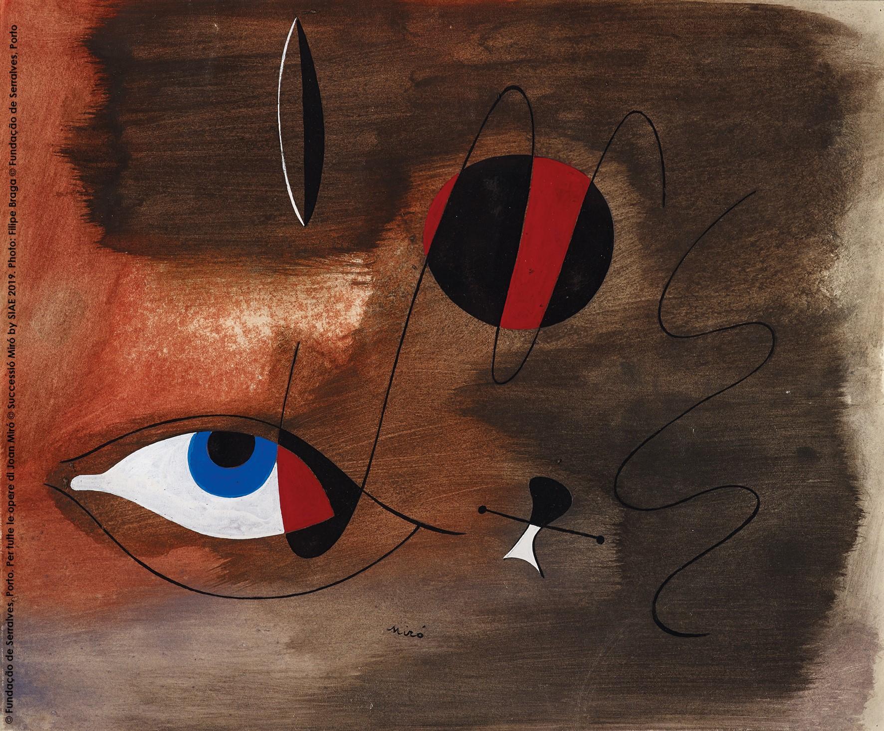 Visioni, 30 agosto 1935, Gouache e inchiostro di china su carta, 30,5 x 37 cm © Fundação de Serralves, Porto