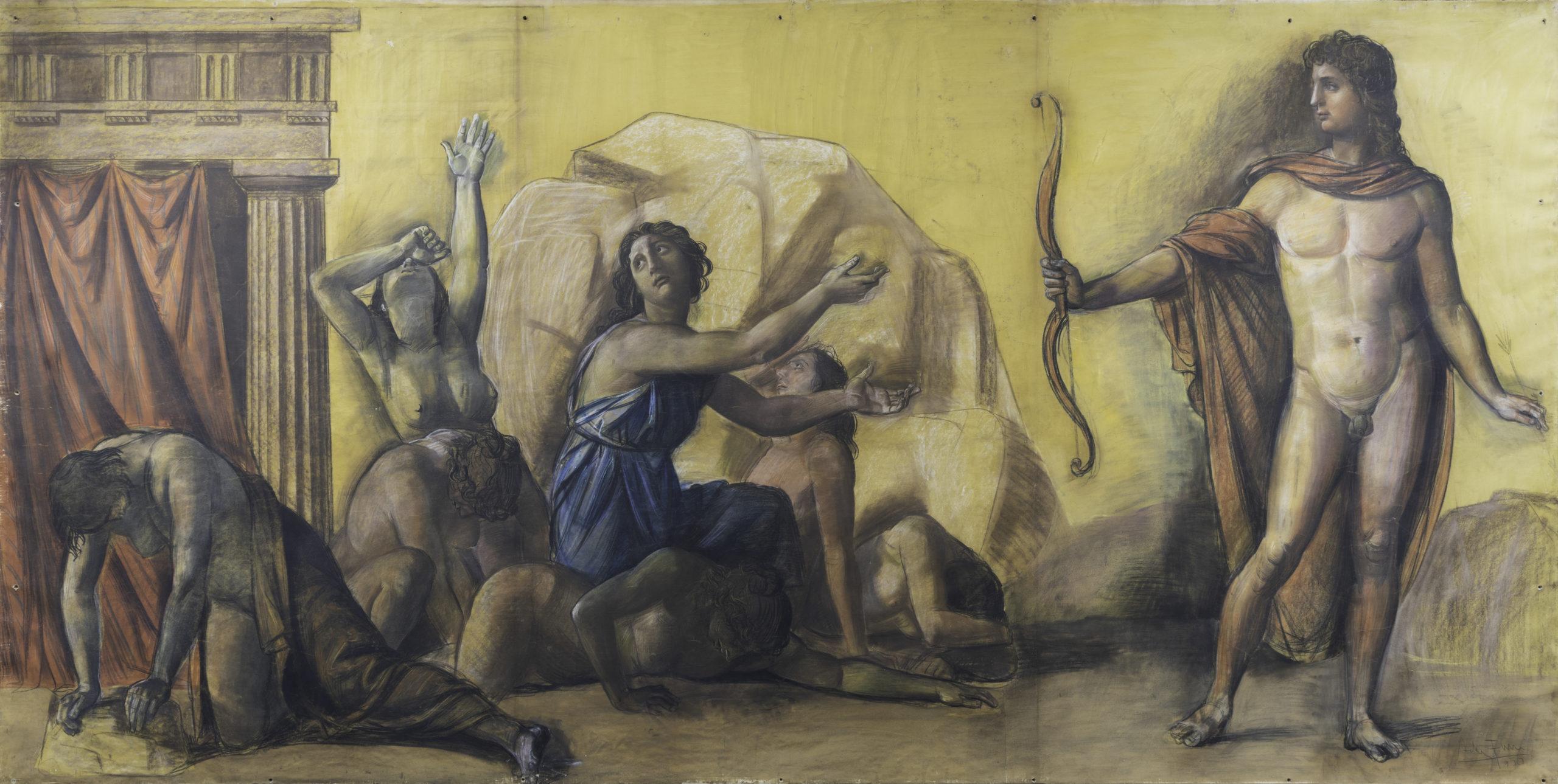Cantore di miti. Un Achille Funi museale in asta da Cambi. Stima 30-40 mila euro
