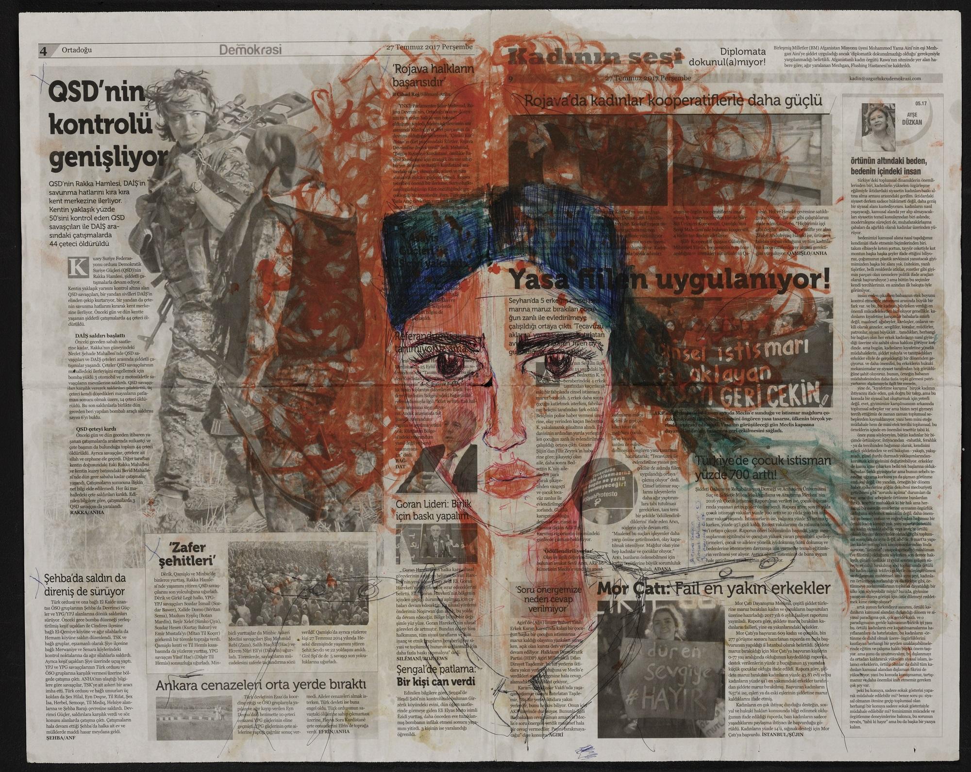 Le armi della cultura. Le opere di Zehra Doğan, dalle carceri turche alla mostra di Brescia