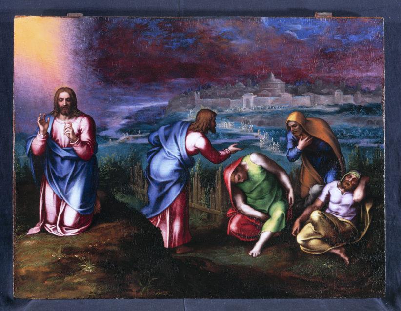 Marcello Venusti L'Orazione nell'orto , 1560 - 70 olio su tavola, cm 53x71 Spoleto, The Marignoli di Montecorona Foundation