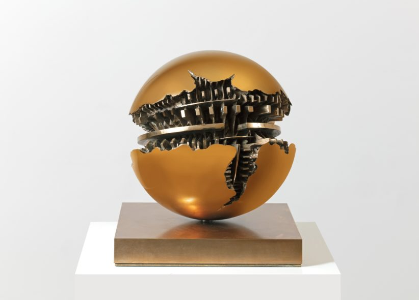 Arnaldo Pomodoro, 1926, Sfera, 1985, Bronze, 30 cm