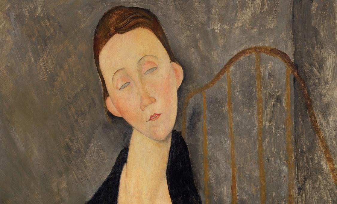 Amedeo Modigliani, Lunia Czechowska (à la robe noire), 1919 (particolare)