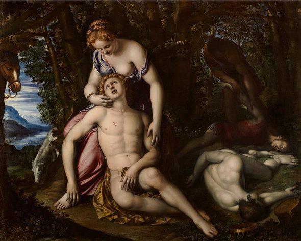 Angelica e Medoro, Simone Peterzano