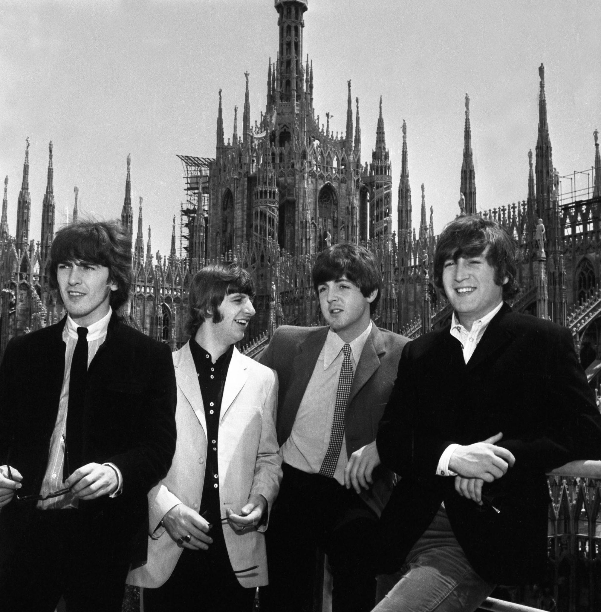 I Beatles sul tetto del Duomo