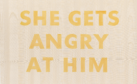 Collezione Marc Jacobs Sotheby's New York novembre 2019 Ed Ruscha, She Gets Angry At Him, 1974, stimata $2,000,000 — 3,000,000