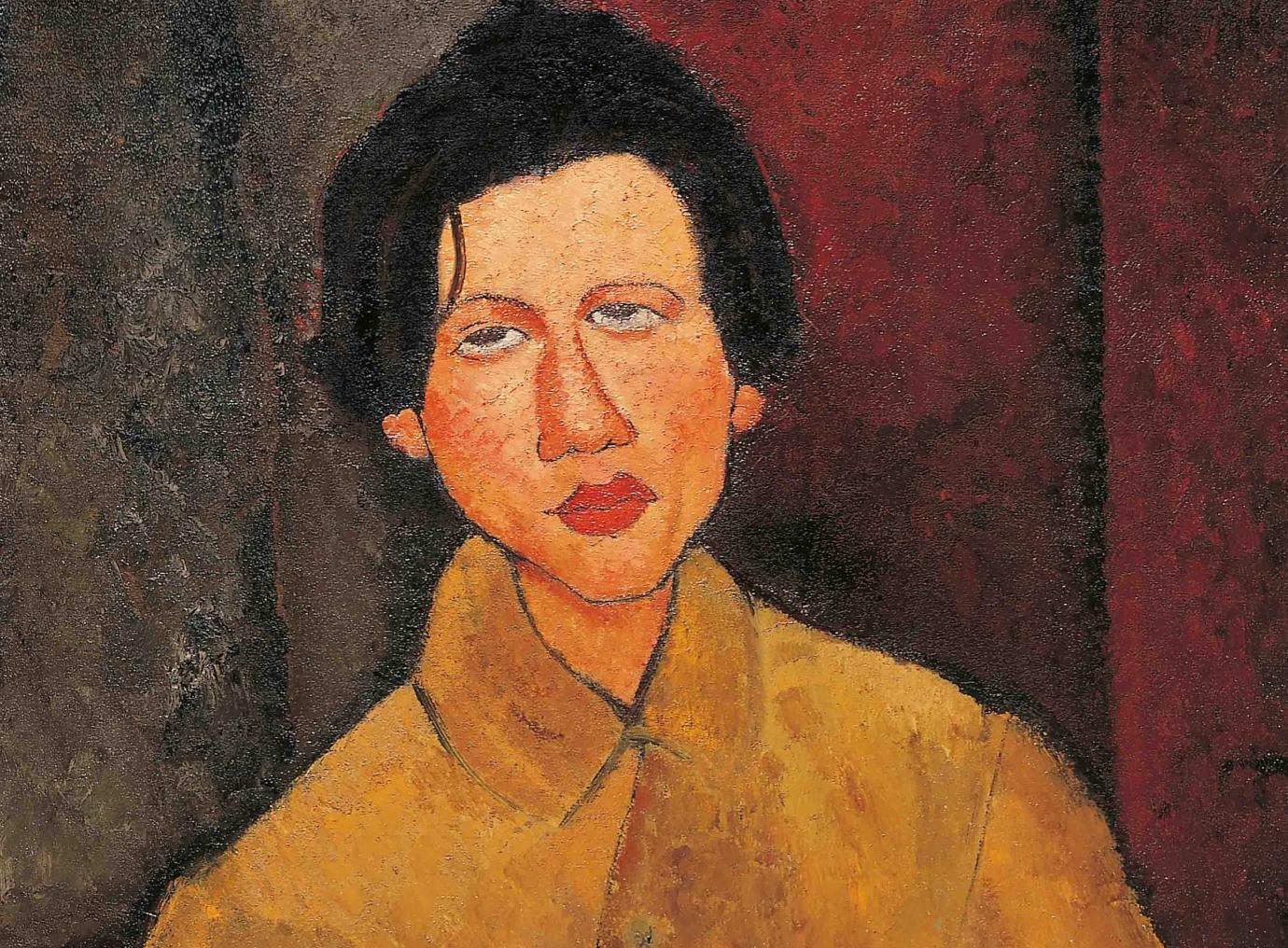 Modigliani, Ritratto di Chaïm Soutine (dettaglio), 1916