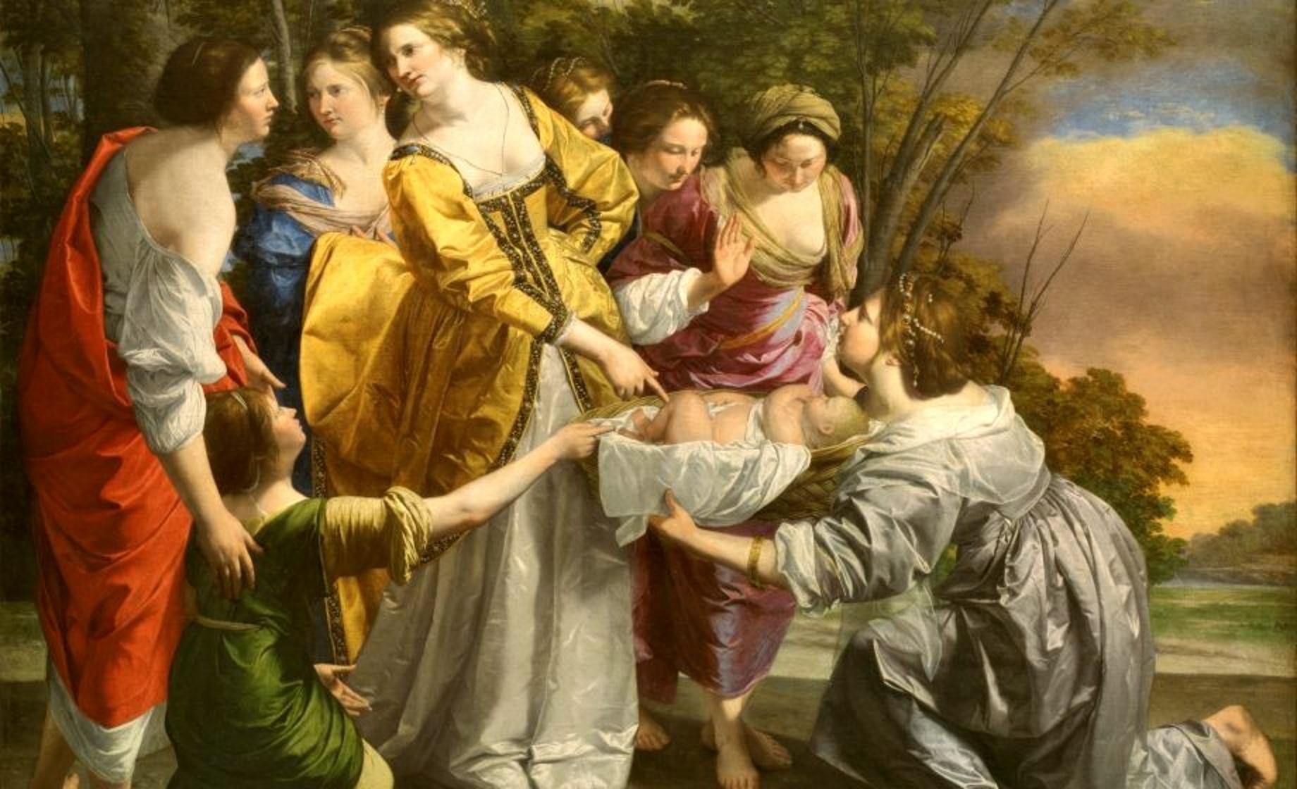 Particolare de Il ritrovamento di Mosè (1630), di Orazio Gentileschi