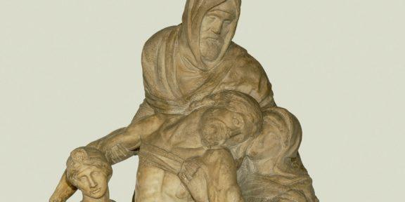 Particolare della Pietà di Michelangelo dell'Opera del Duomo di Firenze, nota come Pietà Bandini